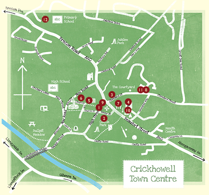 Crick Lit fest Map